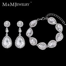 Minmin 4 Colors Jewelry Sets Hot Selling Bridal Round Long Earrings with Bracele