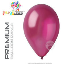 "PARTYPRO® - RED (WINE) - 12"" PREMIUM PEARL / METALLIC BIRTHDAY PARTY BALLOONS"