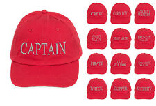 Capitaine Baseball Broderie Casquette coton homme femme famille inscription