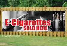E-CIG AND VAPE SOLD HERE BANNER SIGN waterproof PVC with Eyelets 001