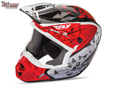 Fly Racing Kinetic Crux Helm Rot Schwarz Weiß 2017 Motocross Enduro Cross Helm