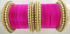 INDIAN ETHNIC 28 PC RANI  GOLD TONE PARTY WEAR BANGLES CHURI SET DIWALI JEWELRY