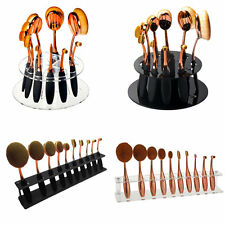 10pcs Toothbrush Oval Make up Brushes Set Dryer Organizer Holder Stand Shelf