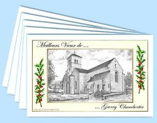 MV 21207 - 5 CARTES DE VOEUX (6 versions) 21 GEVREY CHAMBERTIN