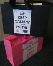 Pink / Black Bride to be Gift Bags / Hen Party Gift Bags