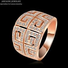 Real 18K Rose Gold Plated big Ring Genuine SWA Stellux Austrian Crystal