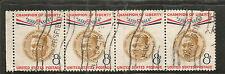 USA -  USED BLOCK OF 4 STAMPS -PRESIDENT OF PHILIPPINES