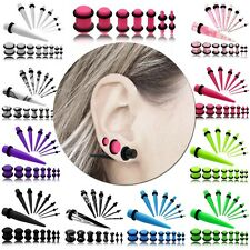 Tunnel Plug Piercing Unisex Orecchio Set Taper Dilatatore Ear Expander 1,6-10mm