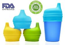 Silicone Sippy Cup Lids - Spill Proof Trainer Learner Bottle Glass Sip Toddler