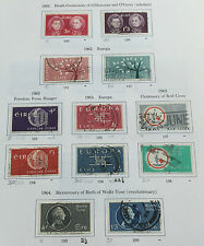 Ireland:1962-1964 Old Irish Used Postage Stamps (12 Stamps) Eire