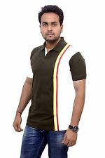 BRANDED Imported (3 in 1) Mens Polo Neck Cotton Fabric T-shirt
