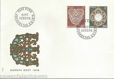SWITZERLAND - FDC - 2 STAMPS - EUROPA - ANTIQUE WATCH +FLOWER DECORATION