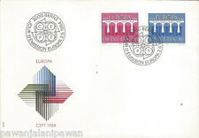 SWITZERLAND - FDC - EUROPA - 2 STAMPS - BRIDGES