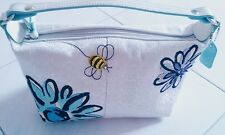 Authentic Coach bee and flower white signature pouch RARE