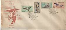 INDIA - FDC - INDIAN BIRDS - 4 STAMPS - 1968