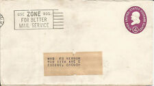 USA - USED COVER - WITH NICE SOLOGON ON ZIP CODE