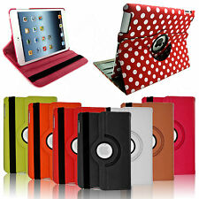 LEATHER 360 DEGREE ROTATING PROTECTIVE CASE STAND COVER FOR iPAD AIR 4 3 2 MINI
