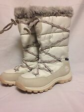 Timberland Over the Chill Lace Uo Winter Boot Off White TB02161R  New with Box