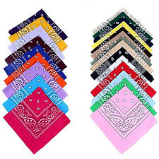 100% COTTON PAISLEY BANDANAS DOUBLE SIDED HEAD WRAP SCARF WRISTBAND POPULAR