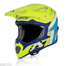 ACERBIS CASCO CROSS IMPACT RAZORBLADE Giallo Blu motocross helmet off road quad