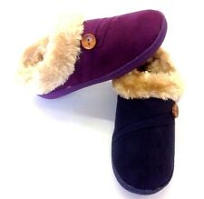 NEW WOMENS SLIPPERS BOOTS GIRLS WINTER WARM FUR Moccasin Slippers