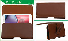 Holster Belt Case Leather Pouch Cover Compatible For Motorola Moto G (Gen 2) LTE