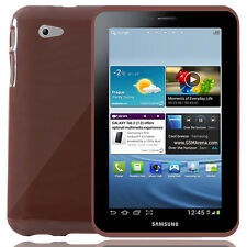 Rubberised Back Cover For Samsung Galaxy Tab 2 7.0 P3100 - Black Or Brown