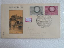BELGIUM BELGIE - EUROPA - FDC First Day Cover - 2 STAMPS 1960 -  fz022