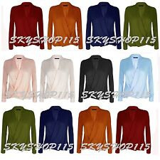 New UK Womens Summer Chiffon Casual Long Sleeve Sex Tee Shirts Blouse Tops WrkLn