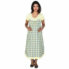 MomToBe Yellow Checks Maternity Dress
