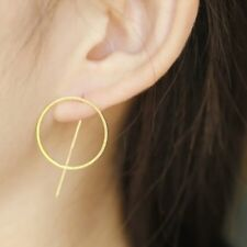 E066  New Punk Style Cool Metal Round Studs Earrings Wholesale
