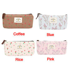 UK Vintage Floral Pencil Pen Case Kawaii Korea Cute Make Up Cosmetic Storage Bag