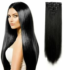New MAJIK Clip On Remy Human Hair Extensions 7 Pcs Instant Volume and Thickness.