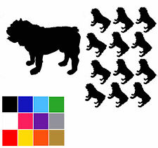 Bulldog Stickers x 12 British Bulldog Glitter Stickers Vinyl Easy Peel & Stick.