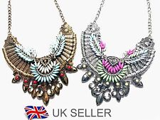 Bohemian Statement Necklace Womens Vintage Oversized Collar Choker Statement Bib