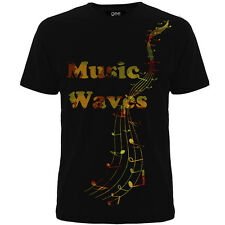 Music T-shirts (Music Waves ) ,Desiner Tee Shirts For Mens