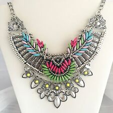 LUXURY Statement Necklace Womens Vintage Oversized Collar Choker Statement Bib