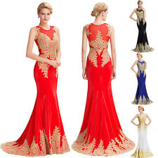 Women Evening Party Ball Prom Gowns Formal Cocktail Wedding Bridal Long Dress