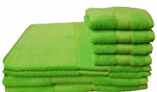 100% EGYPTIAN COTTON LIME GREEN LUXURY BATH TOWEL HAND TOWEL OR BALE SETS