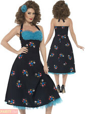 Ladies Grease Costume Adults Cha Cha Digregorio Fancy Dress Womens 1950s Outfit