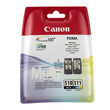 Genuino Canon Pixma - pg-510 & cl-511 Cartucho de Tinta Value Pack (2970b010)