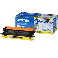 GENUINO BROTHER TN135Y AMARILLO ALTA CAPACIDAD CARTUCHO DE TÓNER IMPRESORA LÁSER