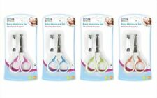First Steps Baby Manicure Set Nail Clippers & Scissors Unisex Grooming 4 Colours