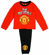 Boys Pyjamas Official Pjs Manchester United Red Devils MUFC 12 Months to 4 Years