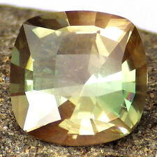 GREEN DICHROIC SCHILLER OREGON SUNSTONE 4.18Ct FLAWLESS-FOR TOP JEWELRY-VIDEO