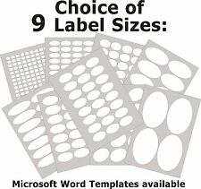 Oval Matt White Paper Labels Laser Copier Inkjet Printer Stickers 5 A4 Sheets