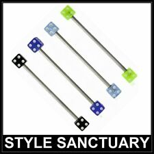 Industrial Scaffold Bar with UV Dice Surgical Steel 1.6mm (14g) x 35mm Barbell
