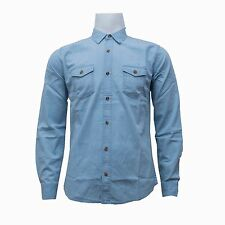 Castro Jeans Mens Long Sleeve Denim Style Cotton Shirt Button Fastening Casual