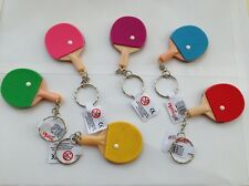 Table Tennis Ball KEYRING Keyrings Racket Sports Party Bag Loot Kids