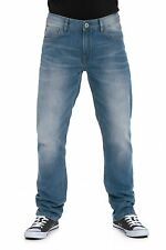 MENS STRAIGHT FIT JEANS IN VINTAGE & LIGHT WASH (EDISON) CLEARANCE!!! RRP £34.99